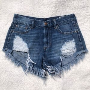 Free People Loving Good Vibrations Cutoffs